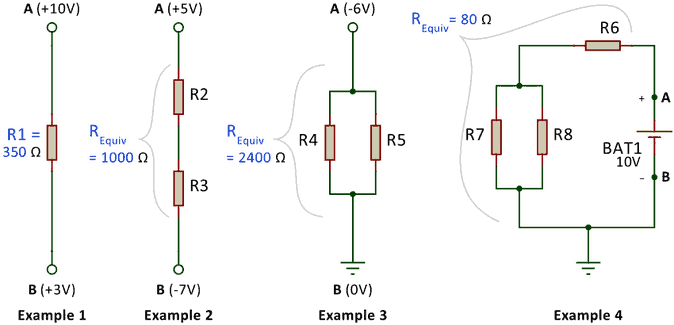 Figure 5: Example circuits demonstrating Ohm's Law