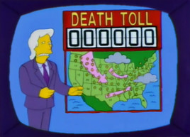 Springfield Action News weatherman with Death Toll